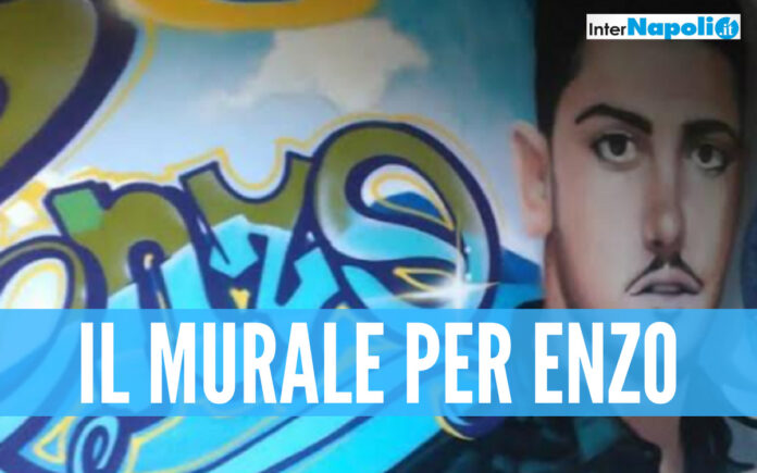 Il murale per Vincenzo Di Napoli