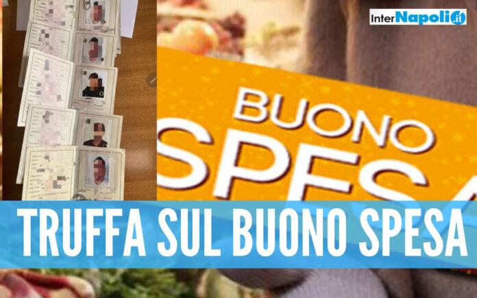Truffa sui buoni spesa a Napoli