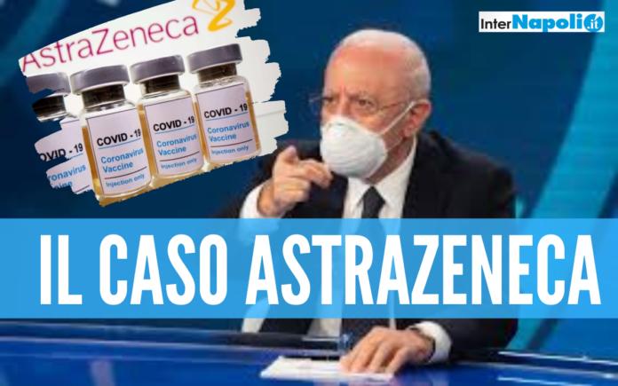Astrazeneca, l'Asl di Napoli sospende la vaccinazione per i lotti icriminati ma De Luca chiarisce: