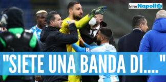 Furia Donnarumma contro il Napoli