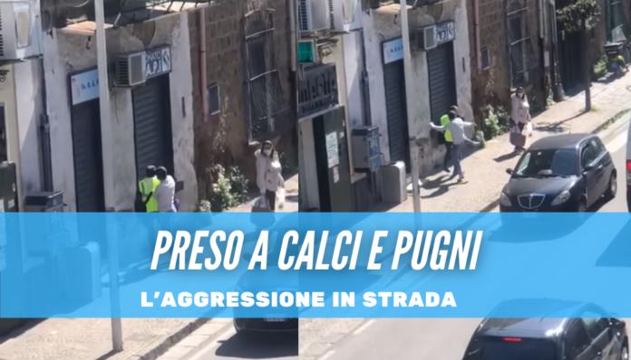 Postino picchiato per motivi banali a Frattamaggiore, il video dell'aggressione