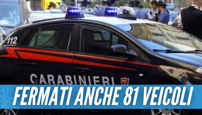 Controlli a tappeto a Ponticelli, controllate oltre 100 persone e sanzioni fino a 33mila euro