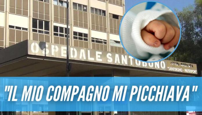 Neonato ustionato a Portici, la madre accusa il compagno: