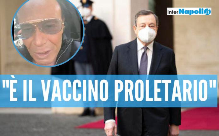 Mario Draghi e Venditti vaccinati con Astrazeneca