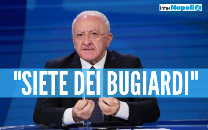 Covid e vaccini in Campania, De Luca dopo i dati in tv: