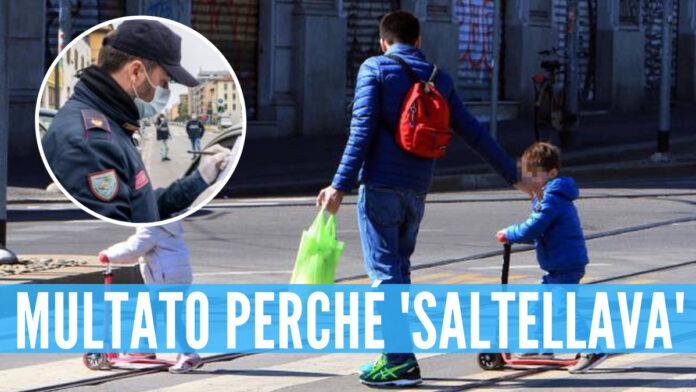 Multa a Napoli per un giovane papà: il figlio 'saltellava' in strada