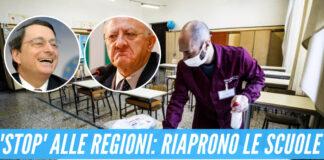 Scuola, si avvicina la riapertura: stop ai poteri delle regioni
