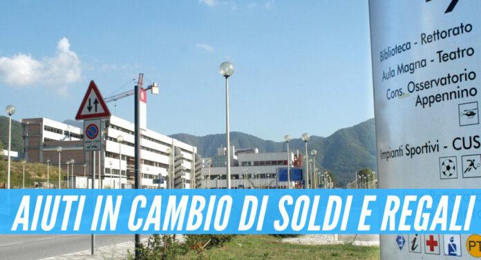 Scandalo all'università di Salerno: aiuti in cambio di soldi e regali