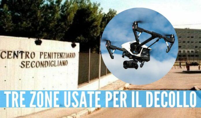carcere secondigliano droni smartphone