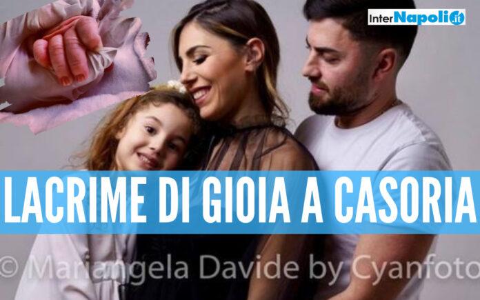 Martina Tucci col marito Antonio insieme alla prima figlia