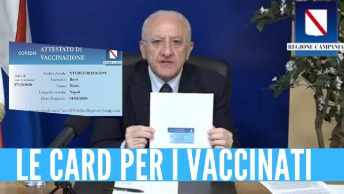 de luca campania passaporti vaccinali