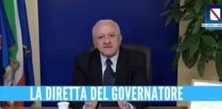 Vincenzo de luca diretta regione campania
