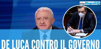 """De Luca contro il Governo Draghi: """"Non se la prenda con le Regioni, senza di noi il collasso"""""""