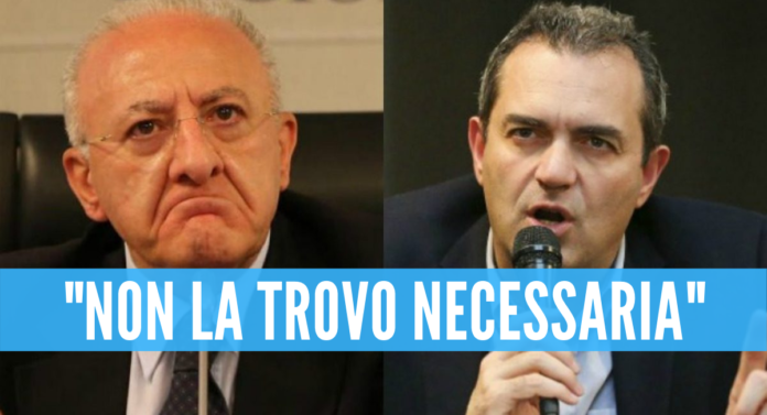 Campania in lockdown, De Magistris attacca De Luca:
