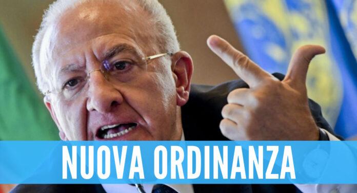 Nuova ordinanza di Vincenzo De Luca
