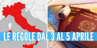 Italia zona rossa a Pasqua