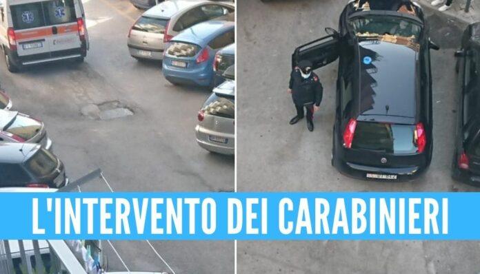 mamma marano cade balcone ambulanza carabinieri morta