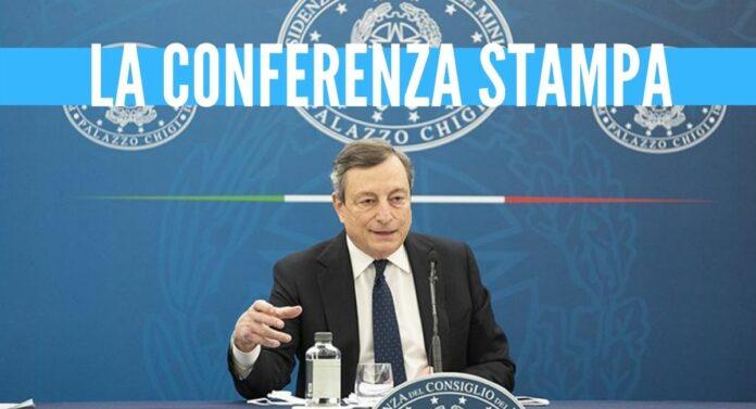 mario draghi conferenza stampa covid decreto