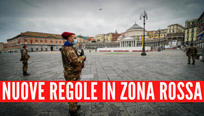Nuove regole in zona rossa