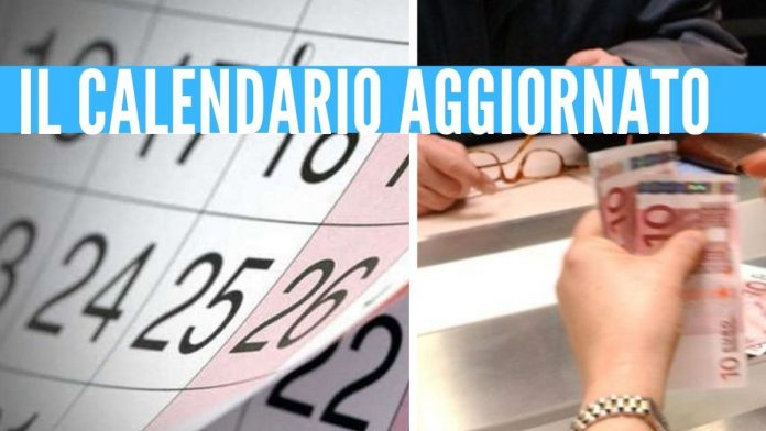 pensioni calendario poste