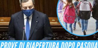 Draghi, prove di riapertura dopo Pasqua