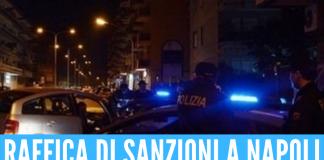 Sanzioni a Napoli: violate norme anti-covid