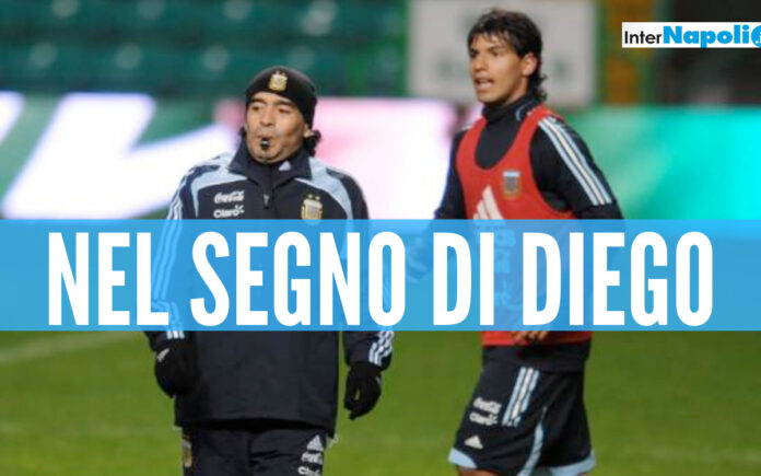 Aguero ed il sogno Napoli nel segno di Maradona
