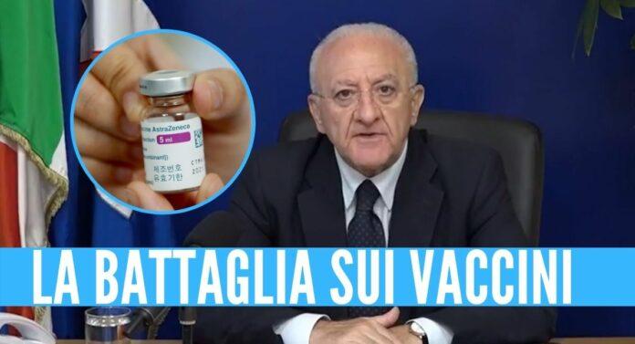 vaccinazioni battaglia campania de luca