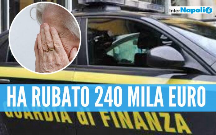 Nipote senza cuore, svuota il conto corrente della zia disabile: scoperto dalla Finanza di Salerno