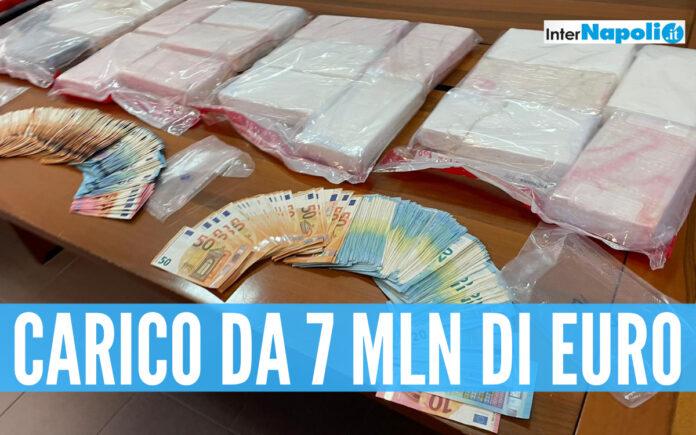 Il carico di cocaina sequestrato a Cagliari