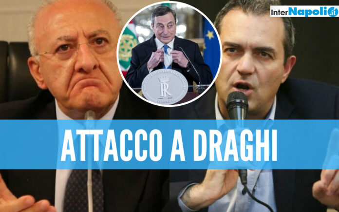 De Luca e De Magistris attaccano Draghi