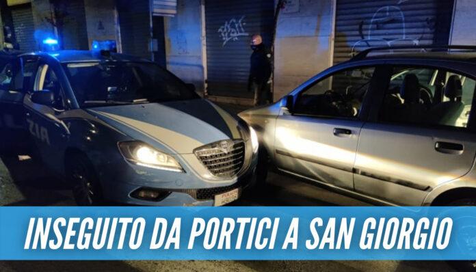 Elude l'alt e scappa fino a San Giorgio, poi si schianta contro una volante: arrestato spacciatore