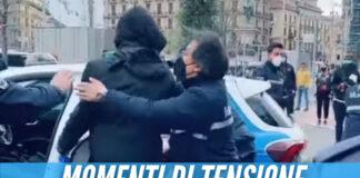 Rissa a piazza Plebiscito, il video della lite durante le proteste a Napoli