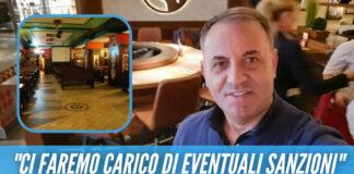 Riapre noto ristorante ad Aversa, il titolare: «Pago io le multe ai miei clienti»