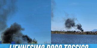 Rogo tossico a Giugliano, colonna di fumo nero invade la Circumvallazione