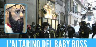 L'altarino di Emanuele Sibillo: le operazioni di rimozione (Foto: Repubblica)