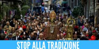 San Gennaro: stop alla tradizionale processione