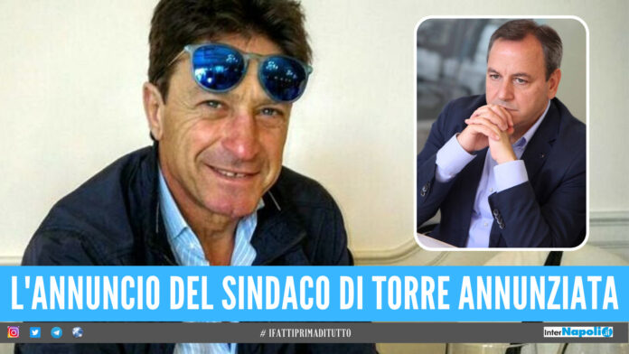 Maurizio Cerrato, nel riquadro il sindaco di Torre Annunziata Vincenzo Ascione