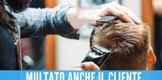 barbiere multato