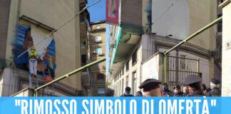 Murale della camorra rimosso a Napoli