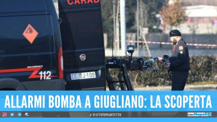 Allarmi bomba a Giugliano, denunciato un 45enne