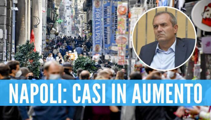 Napoli, casi di covid in aumento: l'allarme del sindaco De Magistris