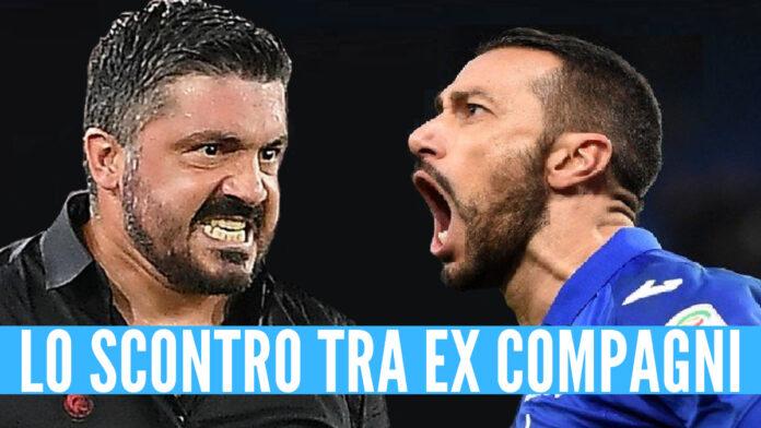 Sampdoria-Napoli video lite Quagliarella Gattuso