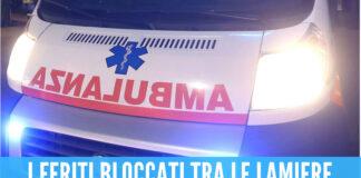 Schianto tra due auto ad Aversa, 3 persone finiscono in ospedale