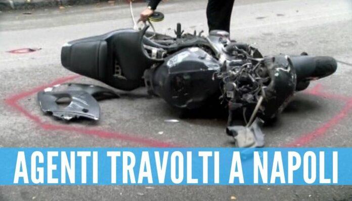Agenti travolti a Napoli