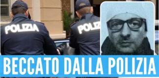 Sullo sfondo immagine generica di un arresto, nel riquadro Salvatore Gaudioso