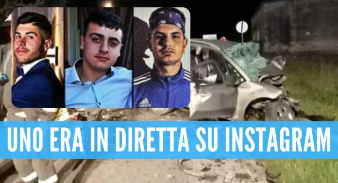 Tre delle vittime: da sinistra Carlo Romanelli, Matteo Simone e Luigi Franzese