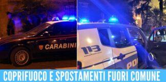 bar baretti controlli polizia carabinieri coprifuoco
