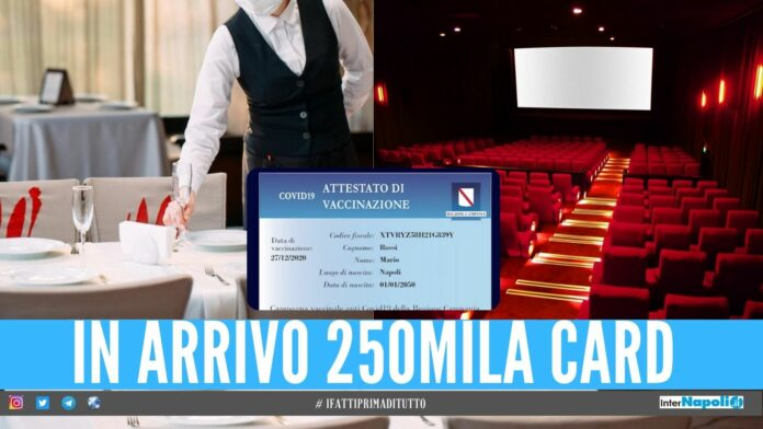 card vaccini campania cinema ristoranti