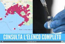 mappa farmacie vaccinazioni covid napoli